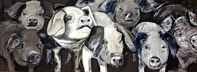 schilderij varken